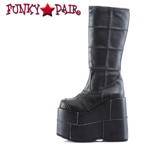 STACK-301PU, Goth Cyber Gogo Platform Boots Demonia | Men