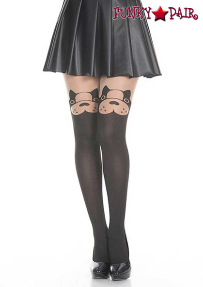 Music Legs | ML-7159, Dog Print Pantyhose