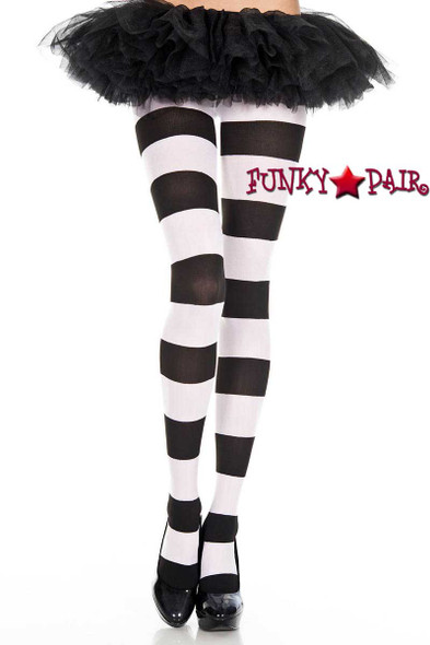 Music Legs ML-7422, Wide Striped Pantyhose