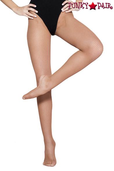 Professional Dancers Beige Fishnet Tights | Music Legs ML-90003
