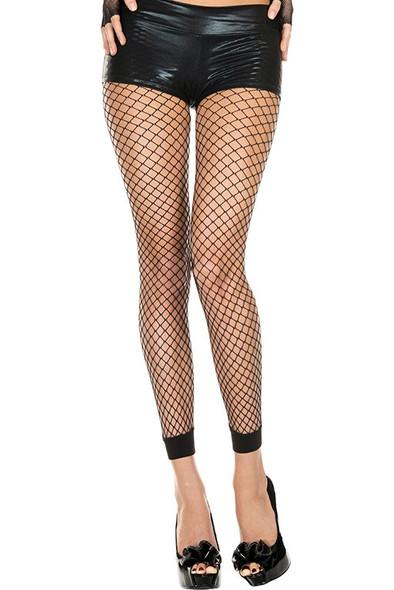 Music Legs | Mini Net Footless Leggings, ML-35930