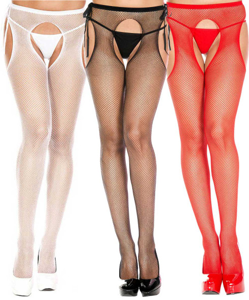 Music Legs | ML-904, Fishnet Suspender Pantyhose