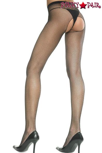 Music Legs ML-901 Crotchless Fishnet Pantyhose