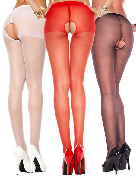 Music Legs | ML-800, Crotchless Sheer Pantyhose