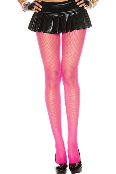 Hot Pink Fishnet Pantyhose, by Music Legs ML-9001