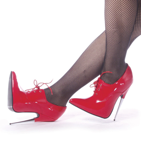 SCREAM-18RP, 6 Inch Stiletto Fetish Red Shoes by Devious