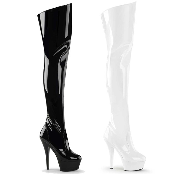 Stripper | Platform Thigh-high boots Pleaser | KISS-3010