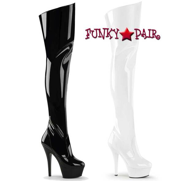 Pleaser | KISS-3010 Platform Thigh-high boots