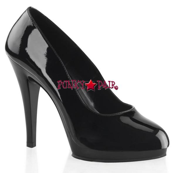 "abulicious | FLAIR-480, 4.5"" Platform Stiletto Heel Pumps black patent"