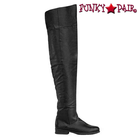 Maverick-8824, Men's Flat Thigh High Boots by Funtasma