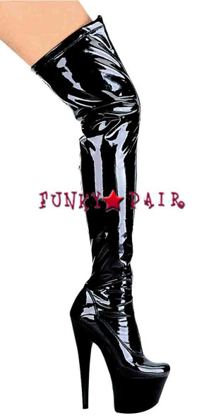 709-Fantasy, 7 Inch stiletto thigh high boots sz 6-10 - by ELLIE Shoes