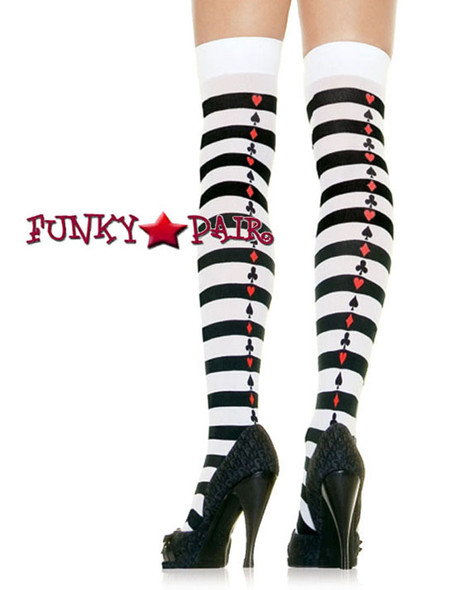 Striped Stockings with Poker Suits | Leg Avenue (6305)