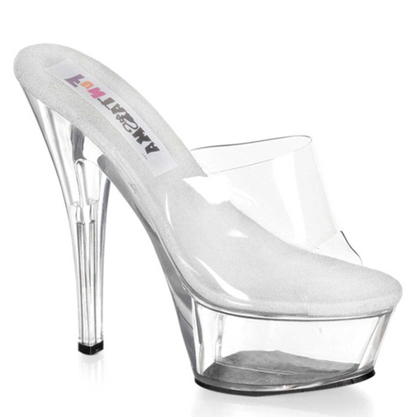"PRINCESS-201, 6"" Clear Platform Slide"