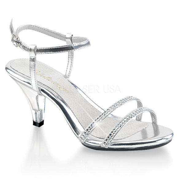 Belle-316, 3 Inch Heel Ankle Strap Sandal Sizes: (5 - 16)