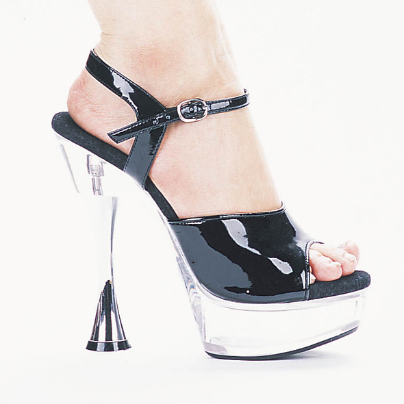 C-Juliet, 6 Inch High Heel with 1.75 Inch Platform with Cone Heel Sandal Made by ELLIE Shoes