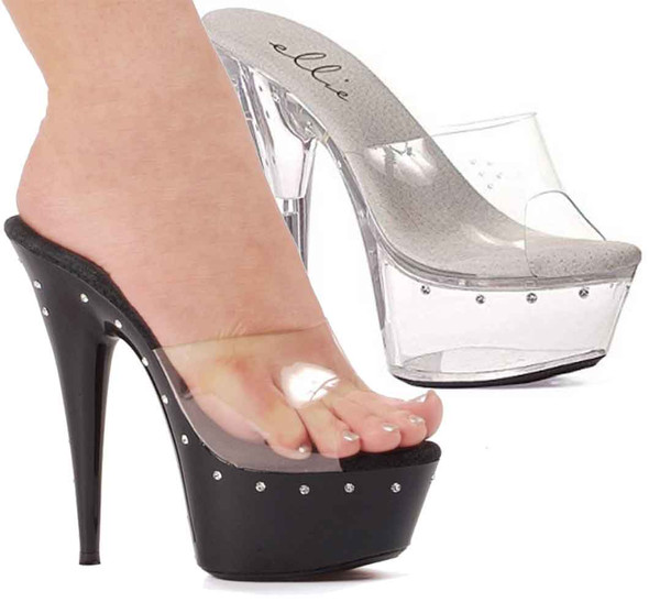 "Ellie Shoes | 609-Harmony 6"" Platform with Rhinestones"