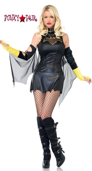 52pc Phantom Girl Costume, includes dress and arm warmers with attached mesh wing5 5CLEARANCE COSTUME SOLD AS IS FINAL SALES5
