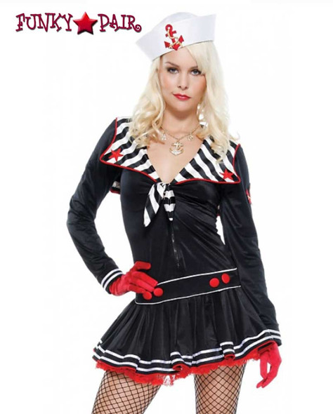 Forplay Costume | FP-558522, Deckhand Darling  close up view