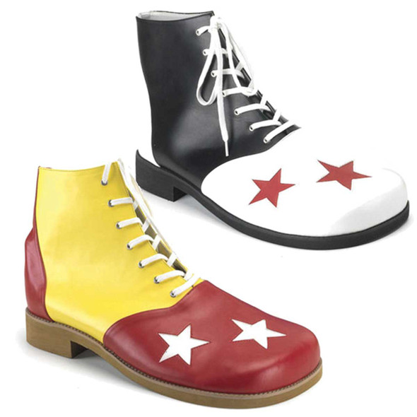 CLOWN-02, Clown Shoe with Stars | Funtasma