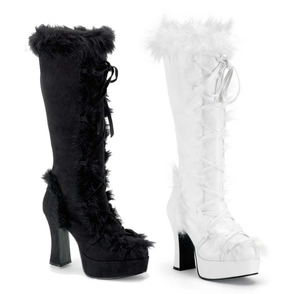MAMMOTH-311 Knee High Fur Boot | Funtasma