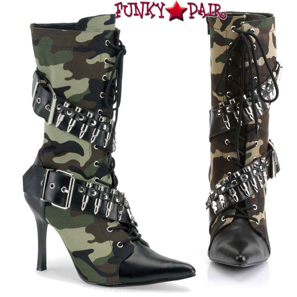 Funtasma | MILITANT-128, High Heel Bullets Military Boot