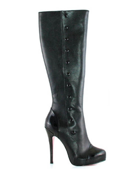 LA420-BUTTONS * 4 Inch Knee High Boots with Buttons