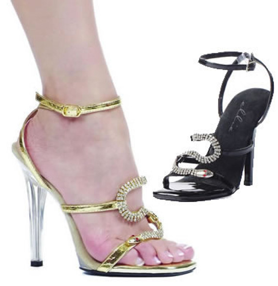 508-Chantel, 5 Inch High Heel Snake Dcor Sandal Made by ELLIE Shoes