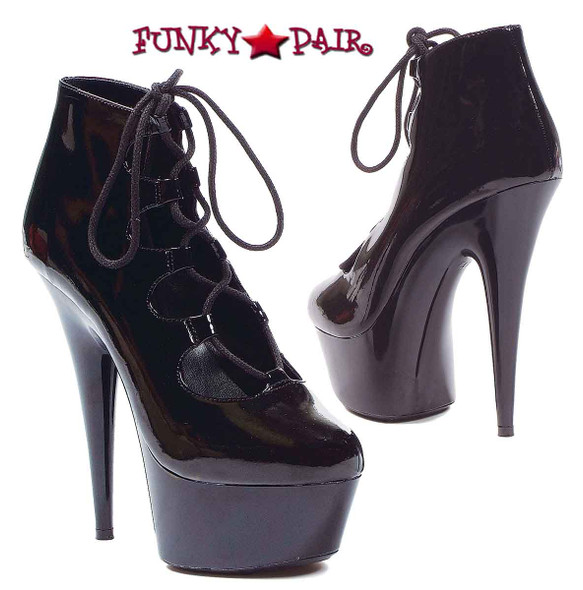 609-Edgy, 6 Inch High Heel with 1.75 Inch Platform Mary Jane Made by ELLIE Shoes