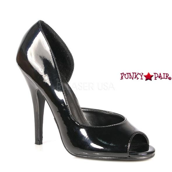 Seduce-212, 5 Inch High Heel with Open Toe and Close Heel