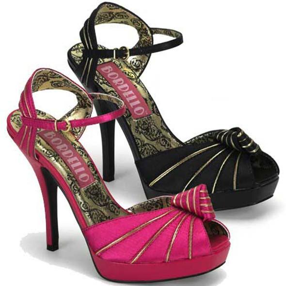 Bordello | PREEN-16, Peep Toe Knotted Platform Sandal