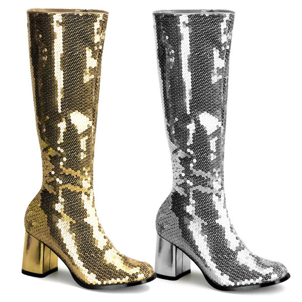 Sequins GOGO BOOTS Bordello | SPECTACUL-300SQ