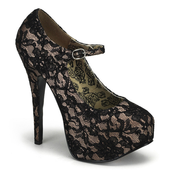Lace Mary Jane Platform Pump | Bordello Teeze-07L