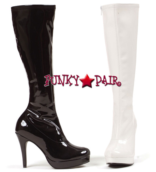 """Ellie Shoes   421-Groove 4"""" GoGo Knee High Boots"""