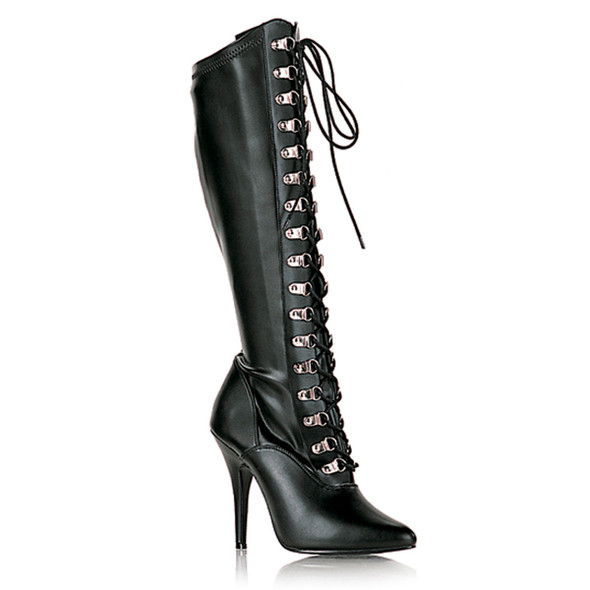 Seduce-2024, 5 Inch Lace-up Stretch Knee Boots * Made by PLEASER Shoes