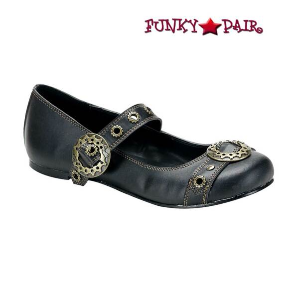 Demonia Shoes | DAISY-09, Steampunk Maryjane Flats