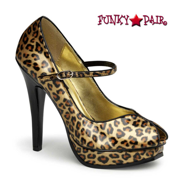 Pin-Up Couture | Pleasure-02, Platform Peep Toe Pump