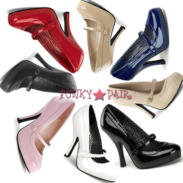Cutiepie-02, 4.5 Inch High Heel with 3/4 Inch Platform Mary Jane Pump Made By Pinup Couture