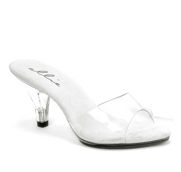 "3"" Clear Dress Shoes Ellie Shoes 