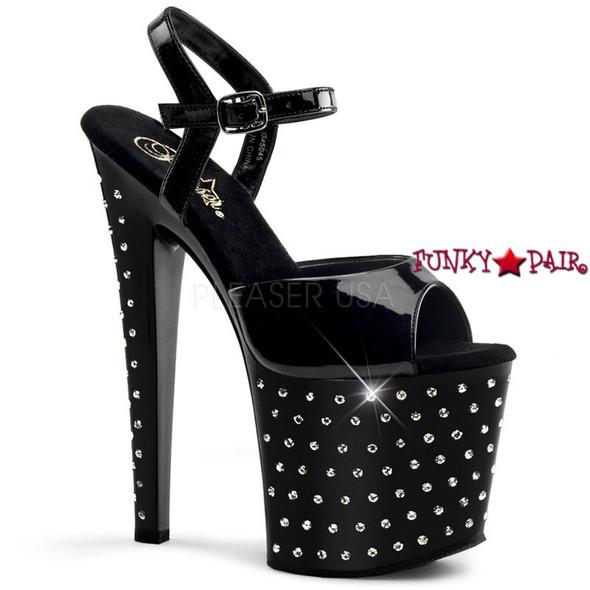 Pleaser | Stardust-759 Platform Ankle Strap Rhinestones Studded Sandal
