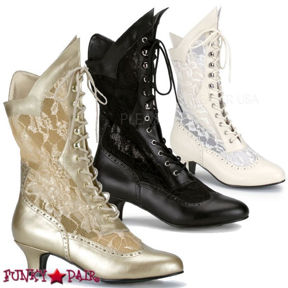 Dame-115 * 2 inch lace victorian ankle boot