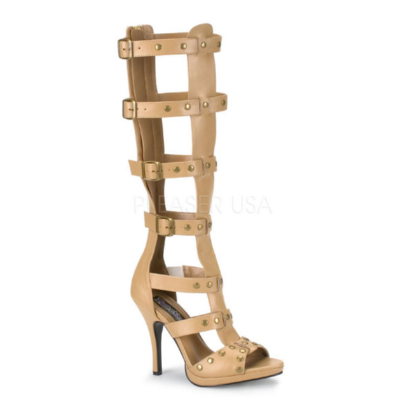 Gladiator-208, Sandal with 4 buckles up Straps