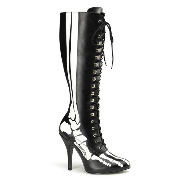 X-ray Skeleton Print Boots Halloween Costume Boots