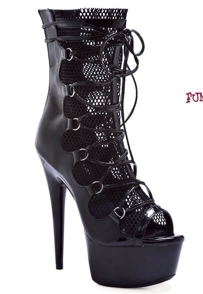 609-Winter, * 6 inch peep toe ankle boots