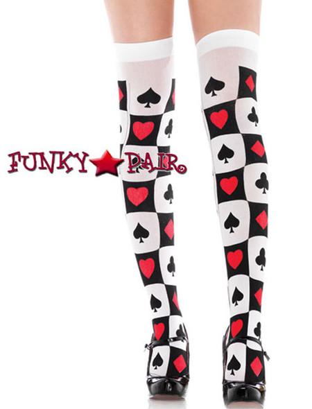Poker Suit Thigh High Stockings | Leg Avenue (9096)