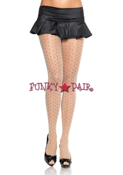 9169, Sheer Pantyhose with Dots