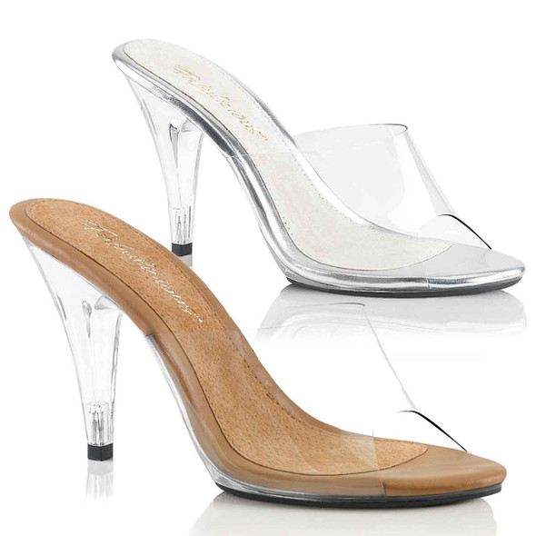 """4"""" Heel Clear evening Shoes Fabulicious 