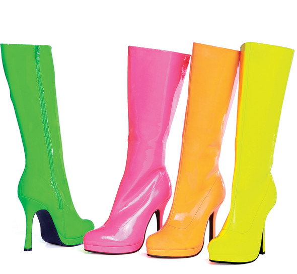 Neon Knee High Boots 421-ZENITH, Ellie Boots