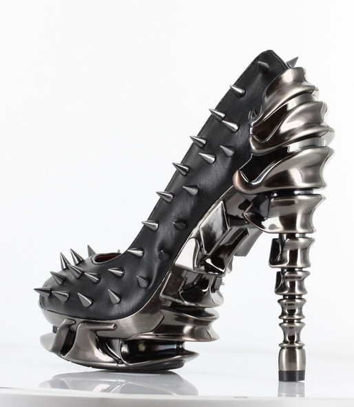 High Heel Pump with Metallic Spikes | Hades TALON color Black