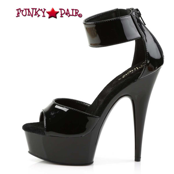 Pleaser Shoes | Delight-670-3, Wide Ankle Cuff Platform Sandal