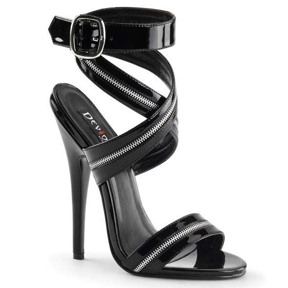 6 Inch Zippers Sandal Devious | Domina-119